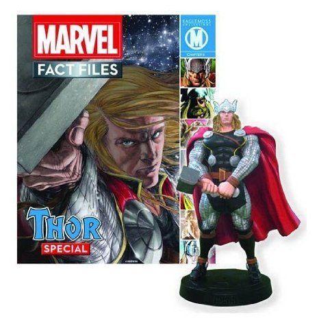 Thor Marvel (マーブル) Fact Files Statue with Magazine フィギュア おもちゃ 人形