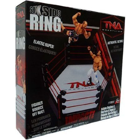 TNA Wrestling Ring Playset Six Sided Ring