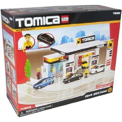 Tomica Hypercity Gas Station プレイセット ミニカー ミニチュア 模型 プレイセット自動車 ダイキャスト