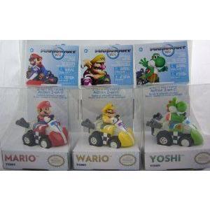 Tomy Mariokart Wii Pullback Micro Racers a Set of 3: Mario, Wario, Yoshi ミニカー ミニチュア 模型