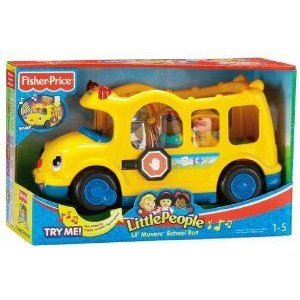 Toy / Game Fisher-Price (フィッシャープライス) Little People Lil' Movers スクールバス With Three W