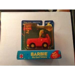 Toy Story 2 Barbie ダイキャスト Vehicle ミニカー ミニチュア 模型 プレイセット自動車 ダイキャスト