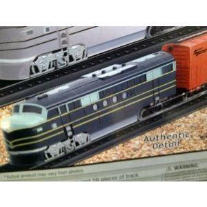 TRAIN SET: Coast to Coast Railway 19 piece Train Set: One Engine and One オレンジ Box Car. Motorized