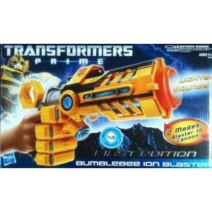 Transformers (トランスフォーマー) Prime ** Bumblebee Ion Blaster ** First Edition ** Lights & Soun