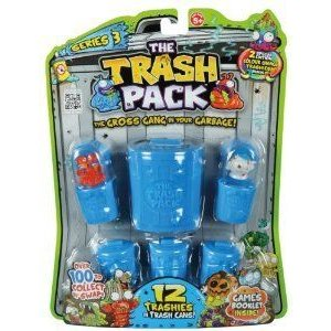 Trash Pack Series 3 NEW 青 BINS 12 PACK (2 SPECIAL EDITION COLOUR CHANGE) TRASHIES フィギュア お
