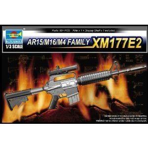 Trumpeter 1/3 AR15/M16/M4 Family XM177E2 Machine Gun ミニカー ミニチュア 模型 プレイセット自動車