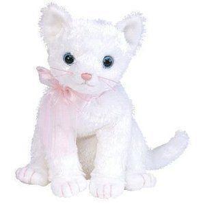 Ty Beanie Babies (ビーニーベイビーズ) Fancy - 白い Cat by Ty TOY ドール 人形 フィギュア