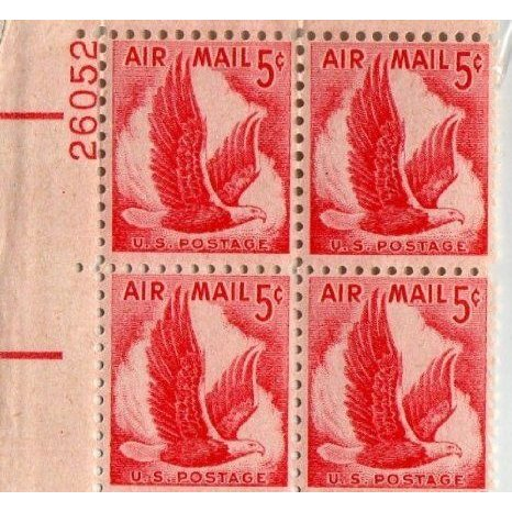 U.s. Postage 5 Cent AIR Mail Block #C-50 ドール 人形 フィギュア
