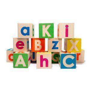 Uppercase and Lowercase Alphabet Blocks Set ブロック おもちゃ