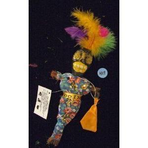 Voodoo Doll Good Luck Power 青 Flower H-13 Money Health PROSPER Revenge ドール 人形 フィギュア