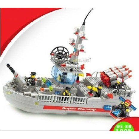 WANGE Building Blocks Toy Warship Series 449Pcs Compatible with Lego (レゴ) Parts 040330 ブロック