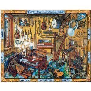 白い Mountain Puzzles Music Room フィギュア おもちゃ 人形