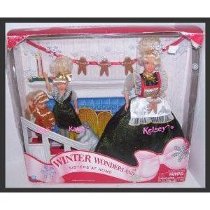 Winter Wonderland Barbie(バービー) Type Sisters At Home Kelsey, Katie & Jodi with Their Pet Dog ド