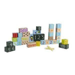 Wood 'Numbers' 34-piece Exploration Blocks Set - 564 Classic ブロック おもちゃ