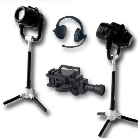 Wrestling フィギュア 人形 Gear Deal 12: Headphone, Camera, TV Lights フィギュア おもちゃ 人形