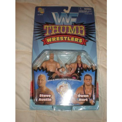 WWF Thunder Wrestlers Steve Austin Vs Owen Hart By Jakks Pacific フィギュア ダイキャスト 人形