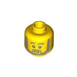 黄 Head (Smile and Gray Beard) - LEGO (レゴ) Minifigure Piece ブロック おもちゃ