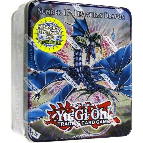 YuGiOh ZEXAL 2011 Wave 1 Holiday Tin Number 17 Leviath Dragon Includes 5 Packs + Pot of Duality, S