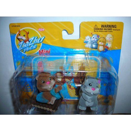 Zhu Zhu Mini Pets - 2 Figurines (Num Nums and Scoodles) フィギュア ダイキャスト 人形