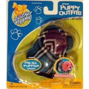 Zhu Zhu Puppies Plaid Puppy Outfit,puppy Sold Separately フィギュア おもちゃ 人形