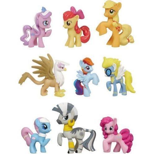 マイリトルポニー 9個フィギュアセット Friendship Is Magic Exclusive Toy Figure Collection Set of