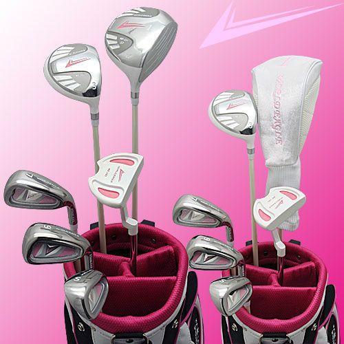 初心者 ゴルフ女子 初めてのクラブセット ワールドイーグル 8点ハーフ ゴルフクラブセット レディース 右利き用 送料無料 ゴルフ用品