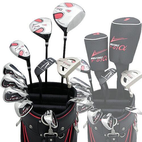 ワールドイーグル WE-F-01α + G510カードバッグ メンズゴルフクラブ14点フルセット 右用 ゴルフ用品