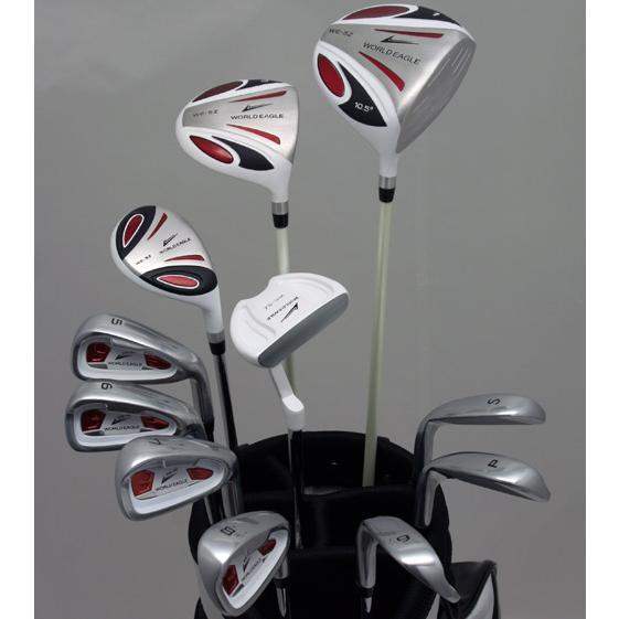 ホワイトイーグルが空高く舞う!メンズ14点クラブセット フレックス-S evclst ゴルフ用品
