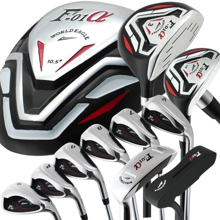 ワールドイーグル F-01α メンズ13点ゴルフクラブセット右用 ゴルフ用品