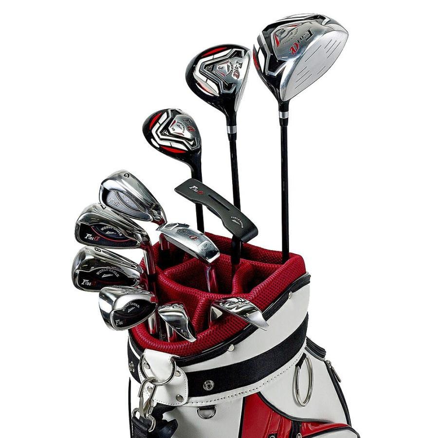 ワールドイーグル F-01αクロスモデル 14点 ゴルフクラブセット メンズ 右用 CBX003 送料無料 ゴルフ用品