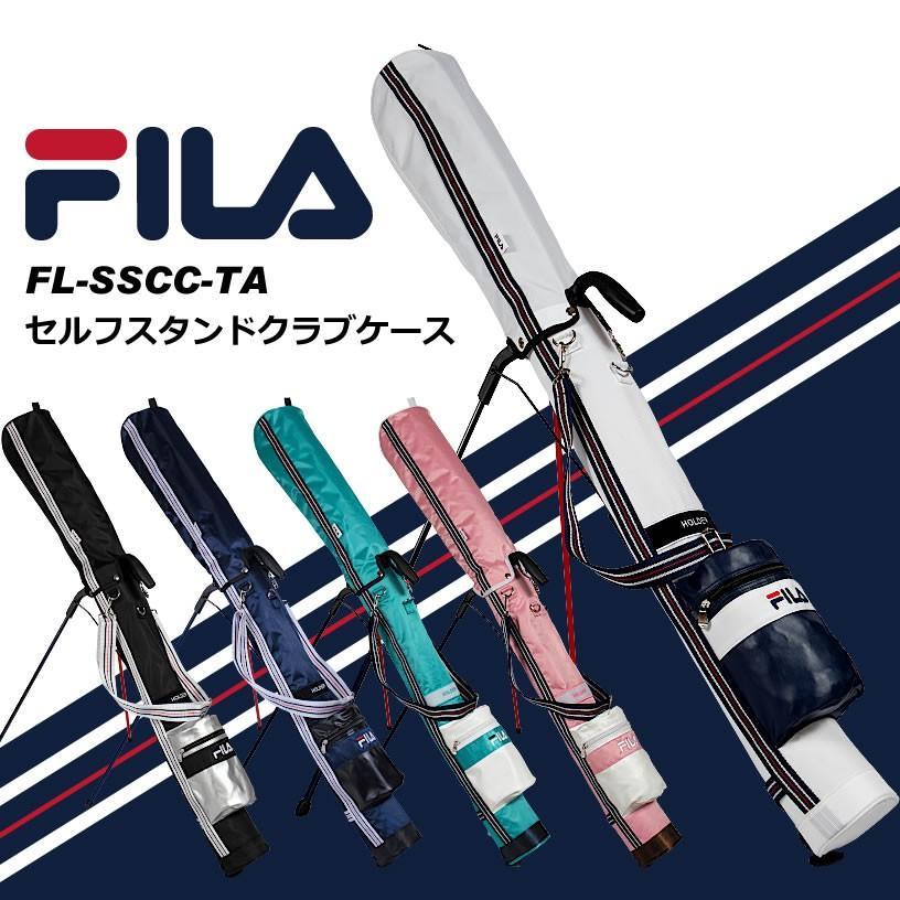 FILA フィラ ゴルフ 軽量・頑丈 セルフスタンド クラブケース フード&大型ポケット付き クラブバッグ スタンドバッグ メンズ・レディース兼用