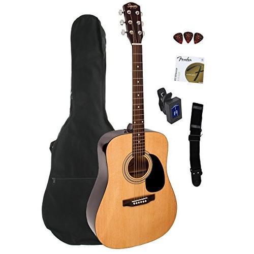 Fender フェンダー Squier スクワイヤー (スクワイア) Dreadnought アコースティックギター Bundle with