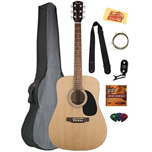 Fender フェンダー Squier スクワイヤー (スクワイア) アコースティックギター Bundle with Gearlux ギグ