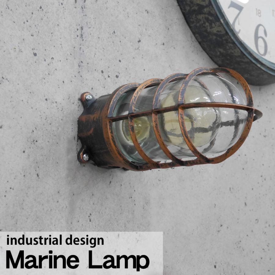 インダストリアル マリンランプ カプセルランプ 船舶 工業照明 壁掛け ブラケットライト ヴィンテージ 天井 デスク 男前 金 A MR-03