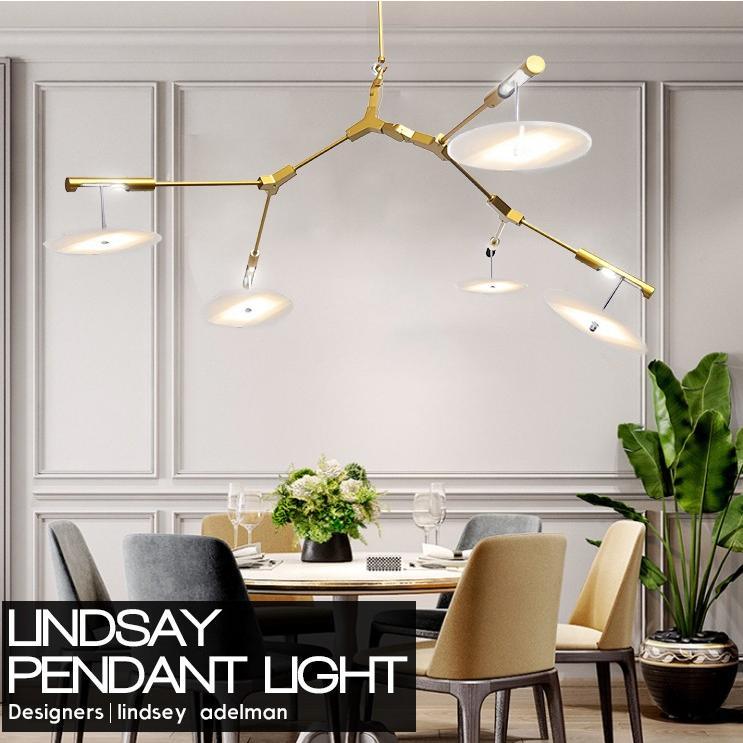 5灯式 ペンダントライト リンゼイアデルマン Lindsey Adelman Adelman Adelman デザイナーズ照明 吊り下げ 北欧照明 ゴールド 73 0c9