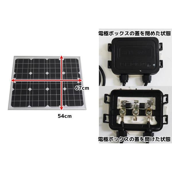 50W ソーラーパネル 太陽光発電パネル 自家発電 DIY アルミフレーム 屋根 ベランダ 車 蓄電 単品|worldnet|02