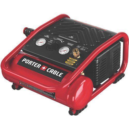 Porter-Cableポーターケーブル C1010 Heavy-Duty 1-Gallon 135 PSI Max Quiet Trim Compressor