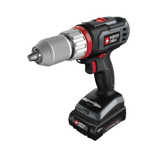 Porter-Cableポーターケーブル PCL180DRK-2 18-Volt Lithium-Ion Cordless Drill Kit