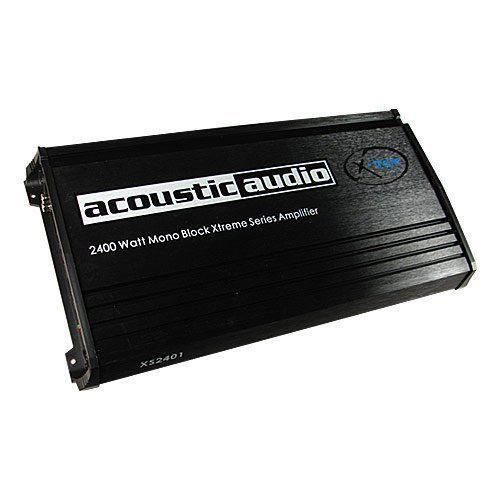 Acoustic Audio XS2401 Xtreme 2400 Watt Mono Block Amp Car Amplifier