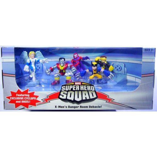 マーベル Superヒーロー Squad 限定 X-Men's Danger Room Debacle 5-Pack (Angel, Cylops, ウルヴァリ
