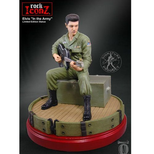 Knucklebonz - Rock Iconz statuette エルヴィス・プレスリー In the Army 23 cm