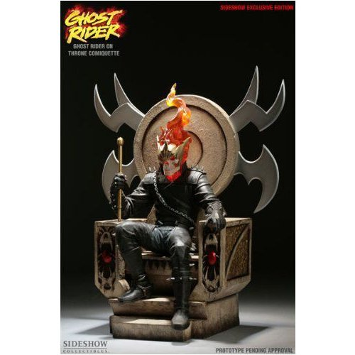 マーベル Maquette: Ghost Rider on Throne 限定 Edition Comiquette Sideshow Collectibles!