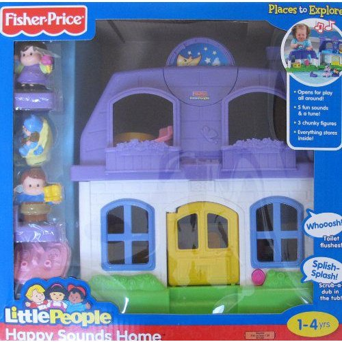 Little People HAPPY SOUNDS HOME w Sounds & 3 フィギュアS Fisher-Price(フィッシャープライス) (2009)