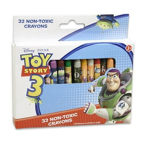 Toy Story(トイストーリー) Crayons in Box, 32 Count - ケース パック 48 SKU-PAS918432