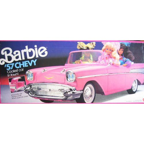 Barbie(バービー) 57 Chevy Convertible Vehicle (PINK) Coolest Car in Town! (1990)