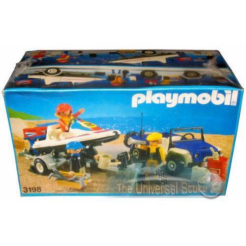 Playmobil(プレイモービル) ブルージープ with スピードボート (3198)