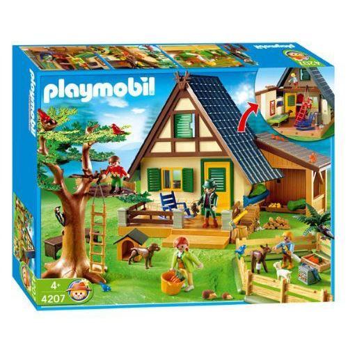Playmobil(プレイモービル) 動物 森林ロッジ 4207