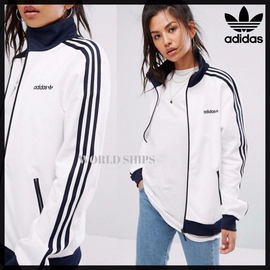 【爆売りセール開催中!】 SALE!アディダス ジャケット adidas Originals Track Jacket ホワイト/ネイビー【海外限定 正規品】, 沙流郡 080cc13a