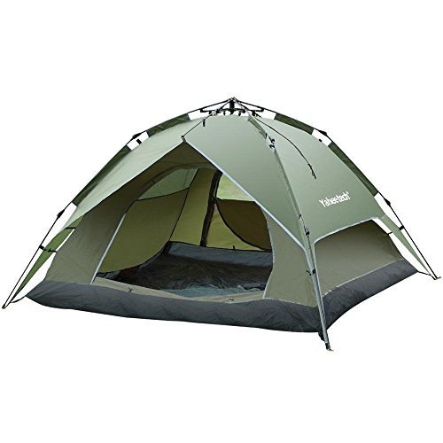 Yaheetech 3-4 Person Outdoor Automatic Waterproof Double Layer Instant Camping Tent