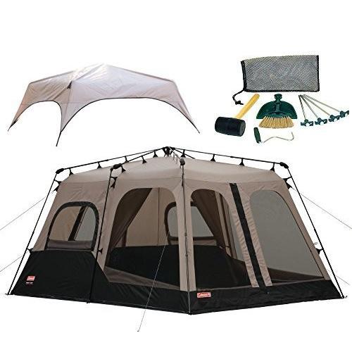 一人でも楽ちん簡単設営 2部屋広々 テント コールマン Coleman 14FTx10FT Foot 8 Person Instant Tent 8人